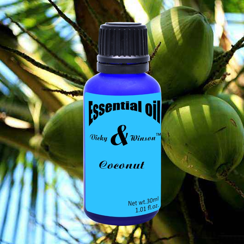 Vicky&winson Coconut aromatherapy essential oils 30ml orgnic virgin coconut oil 100% natural skin hair care oil deodorization недорого