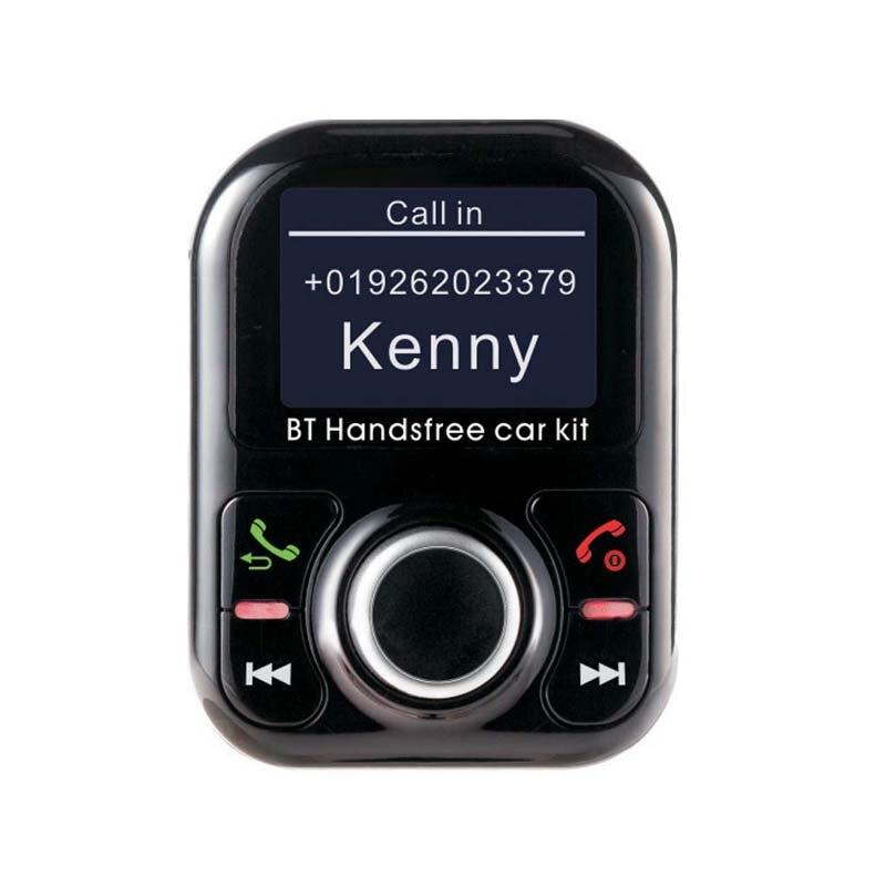 Nueva función 2019 muestra el nombre de la persona que llama. Kit de manos libres para coche con bluetooth inalámbrico, reproductor MP3, carga rápida 2A para teléfono móvil