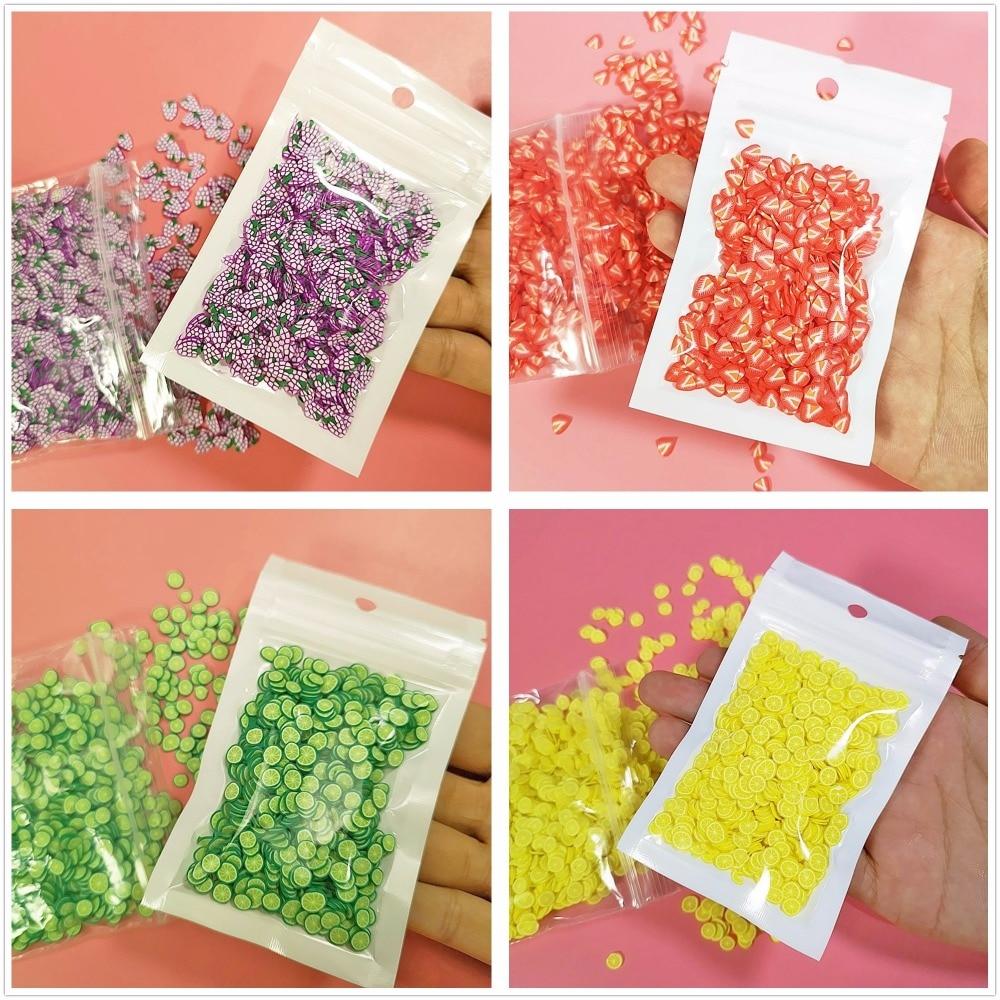 Arcilla transparente antiadherente antiestrés para niños, juguete de Cristal, fruta, Slime, antiadherente, accesorios para arcilla, 1000 Uds.