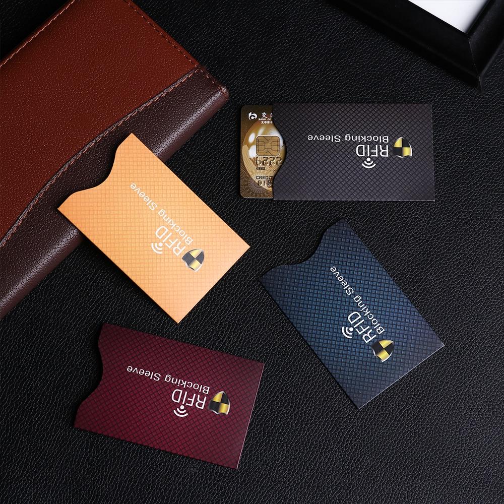 5PCS Safety Anti Theft Reader RFID Credit Card Protector Blocking Sleeve Skin Case Aluminium Bank  Card cover  Sleeve Wallet
