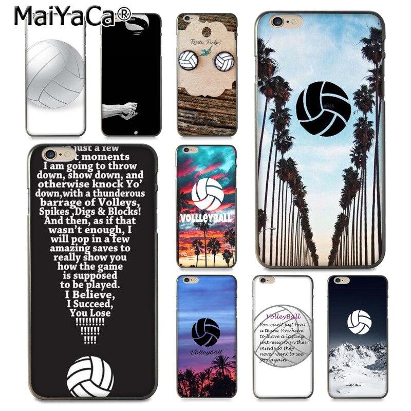 MaiYaCa SPORT voleibol, me gusta voleibol diseño de moda funda celular para iPhone 8 7 6 6S Plus X XS XR XSMax 5 5S SE Coque Shell