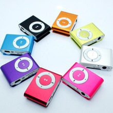 Sport 3.5mm Fashion MP3 Music Players Metal Clip mp3 Portable Mini Mp3 Support up to 32GB Micro SD c