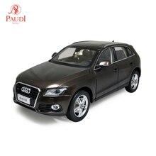 1/18 118 1 18 échelle Audi Q5 2014 SUV marron Simulation statique moulé sous pression en alliage modèle de voiture cadeaux Collections