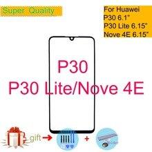 Pour Huawei P30 ELE-L09 tactile ELE-L29 P30 Lite Nova 4E écran tactile panneau capteur numériseur avant verre extérieur LCD lentille remplacement