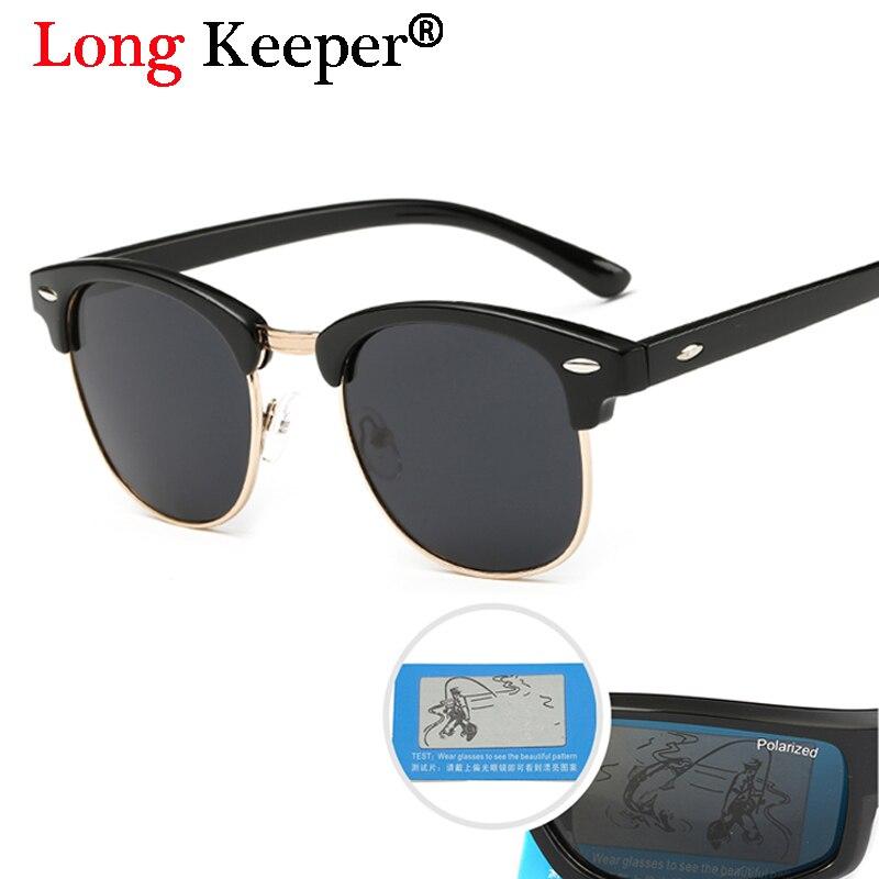 Long Keeper ee.uu. Europa Gafas de sol calientes para Mujeres Hombres polarizadas Gafas de sol Retro conducir Gafas de sol feminino 3016 -GD