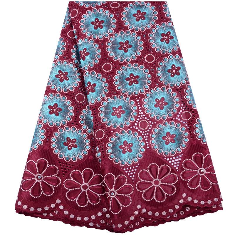 Mejor venta de Nigeria tela de encaje con reborde pesado malla de red de encaje francoafricano tela suizo Volie tela de encaje de algodón 2019