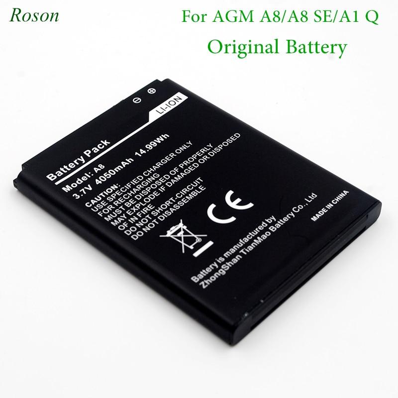 Batería de teléfono móvil Roson para AGM A8 A1 Q,4050mAh nuevas baterías de repuesto para AGM A8 SE Teléfono Móvil Inteligente li-ion Battey
