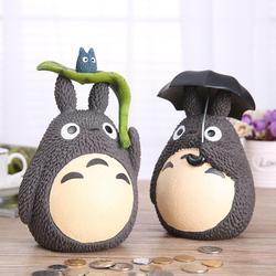 Totoro dos desenhos animados Piggy Bank Coin Saving Box Casa Decoração Artesanato Resina Caixa de Dinheiro Crianças Presente de Natal Aniversário