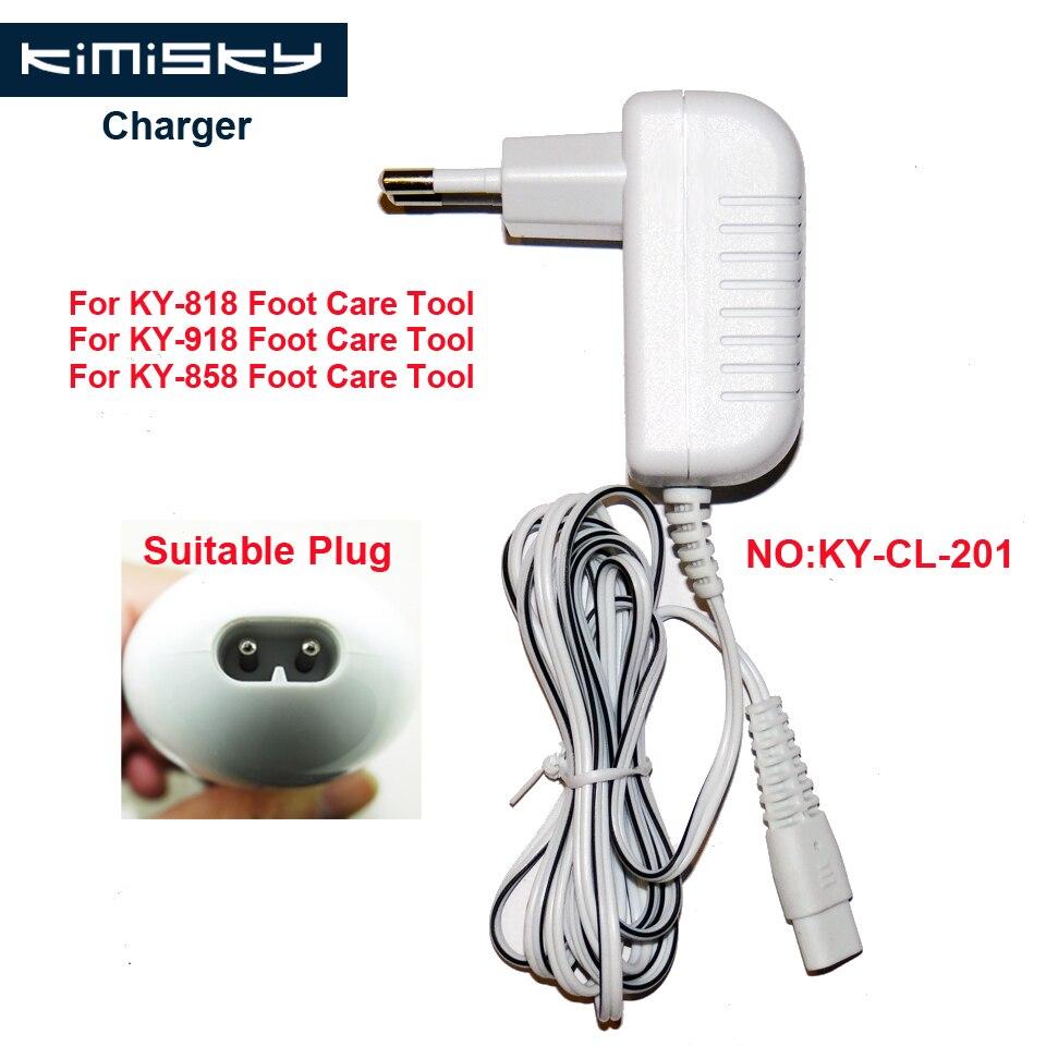 Para KIMISKY KY-918 KY-818 KY-858 3V 1A de cuidado de los pies herramienta de pedicura herramientas cargador modelo adecuado KY-CL-201
