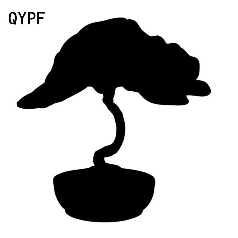 QYPF 16,6 cm * 17,5 cm gigante en maceta diseño Floral árbol divertido en rama delicado vinilo coche pegatina vívida ventana calcomanía C18-0413