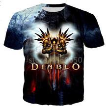 New classical Diablo 3 Reaper of Soul t shirt men women 3D printed novelty fashion tshirt hip hop streetwear casual summer tops