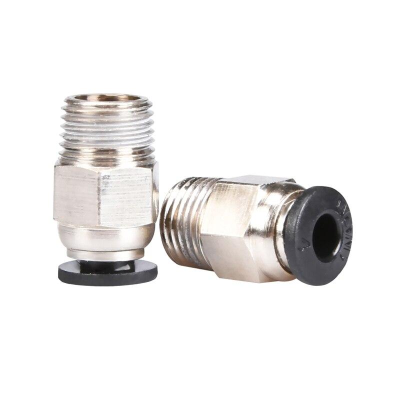 Accesorios de impresora 3D V6 conector rápido M10 tubo bowden de junta rápida neumática