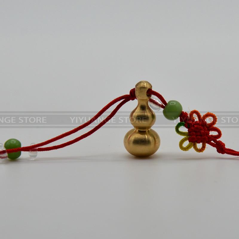 Chiese Feng Shui porte-clés   Produit, en laiton doré, Wu lou Wu Lu gourde Hulu porte-clé pour les affaires lisses