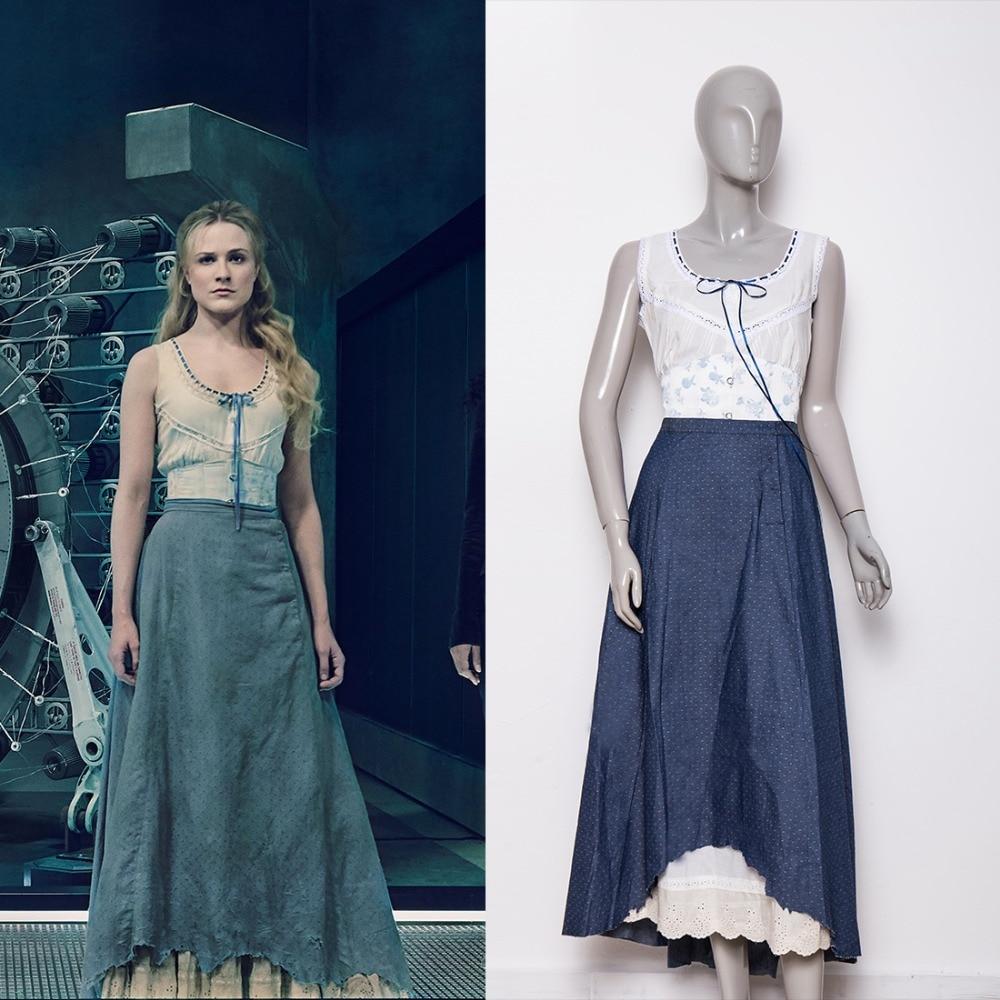 2018 костюм для косплея из фильма «вестмир»; сезон 2 года; синие платья Dolores; костюмы на Хэллоуин