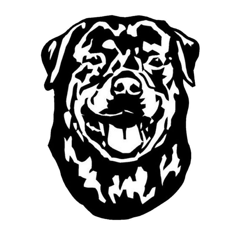 10,9*14CM etiqueta linda del perro del animal doméstico pegatinas impermeables del coche que estiliza los accesorios del parachoques negro/plata S1-0347