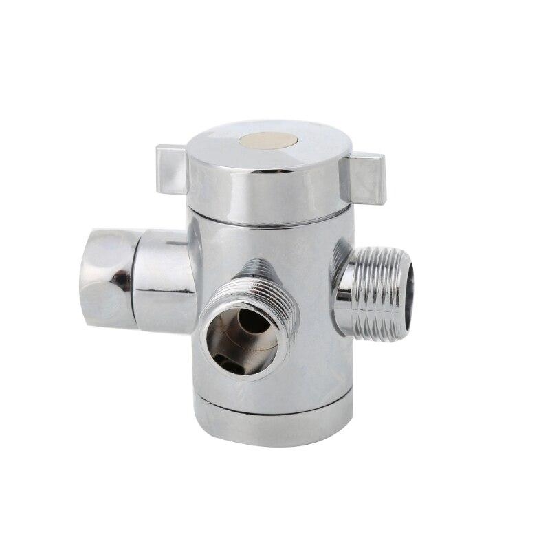 G1/2 Zoll Bad Drei Weg T Adapter T-anschluss Ventil für Wc Bidet Duschkopf Umschaltventil Duschkopf Shunt W315