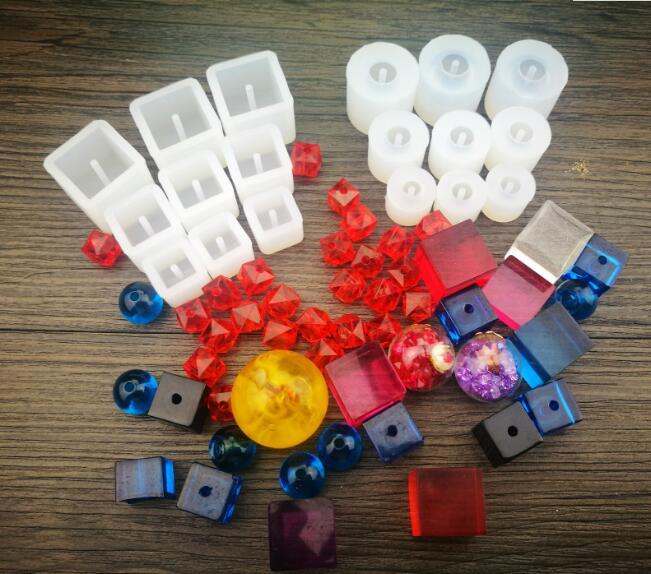 (8-16 мм) силиконовая форма для квадратных шариковых шариков, силиконовая форма из смолы, инструмент ручной работы, сделай сам, эпоксидная смо...