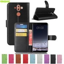 For Nokia 9 Case Nokia9 Luxury PU Leather Back Cover Case For Nokia 9 Case Flip Protective Phone Bag Skin Funda