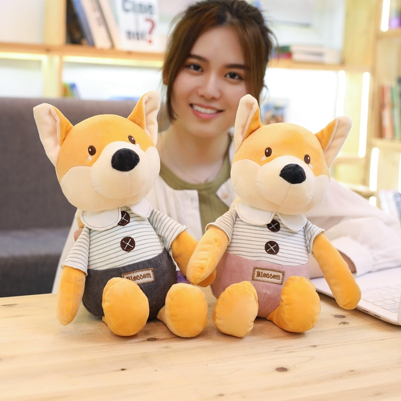 hot 2019 new 30cm 40cm white ping cute plush cat toys stuffed plush animals cartoon cat doll toys kids toys girls christmas gift New hot 30cm/40cm Plush Toys Cute Fox Eddy Plush Stuffed Animals Toys Doll Soft Toy Brinquedos for Children Kids Christmas Gift