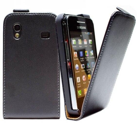 Funda de cuero de lujo con tapa para Samsung Galaxy ace S5830