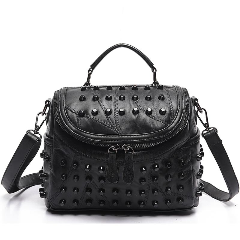 2021 Luxury Women Genuine Leather Bag Sheepskin Messenger Bags Handbags Famous Brands Designer Female Handbag Shoulder Bag Sac