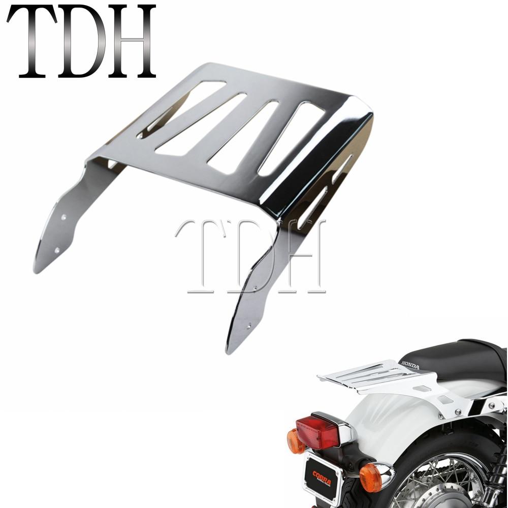 Chrome Motorcycle Sissy Bar Luggage Rack Holder For Honda ACE Spirit Aeri  750 1100 VLX 600 1994-2010