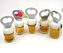 3D Beer Mug Refrigerator Magnets Kitchen Fridge Magnet Beer Opener 2in1