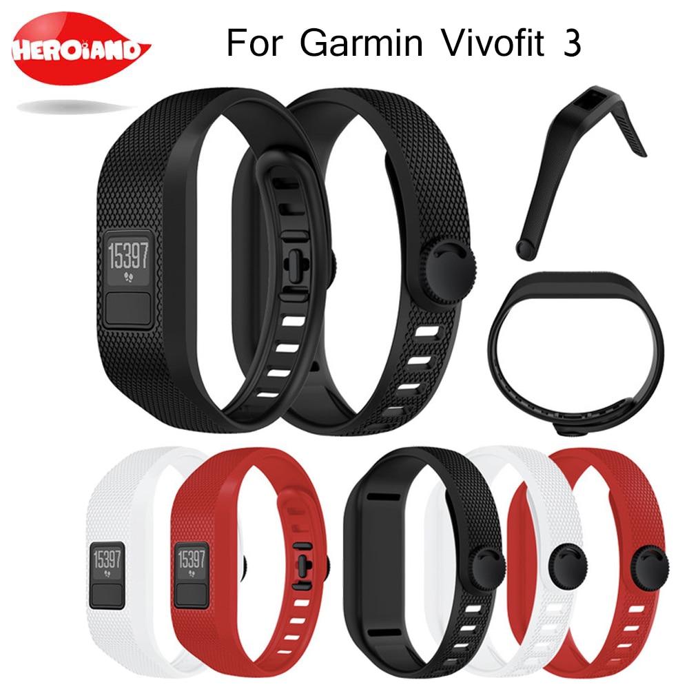1 шт. Силиконовый Модный дизайн сменные наручные часы ремешок браслет для Garmin Vivofit 3 браслет для Garmin Vivofit3