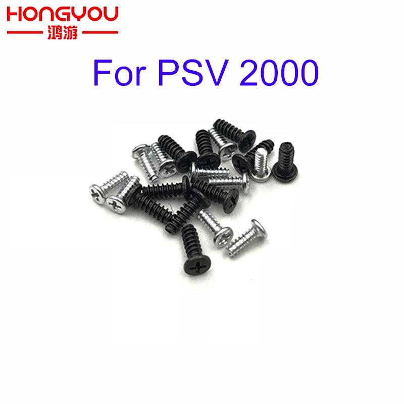 Juego de 10 Uds de tornillos de cabeza Philips plateados y negros para consola de juegos PS Vita PSV 2000 PSVITA 2000
