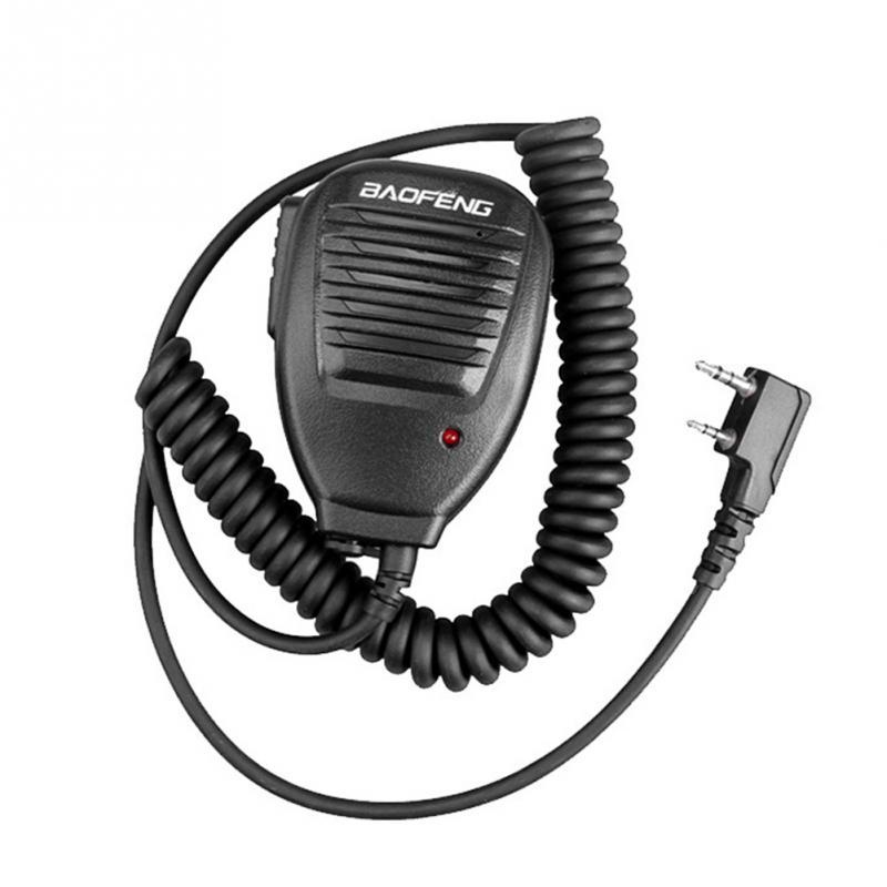 2020 Новый 2-полосный динамик микрофон для Baofeng 888 S 5R 5RA UV82 8D 5RE динамик микрофон гарнитура радио H21 переговорный телефон с зажимом
