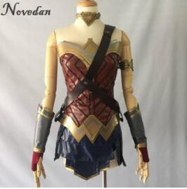 Wonder Woman Cosplay disfraz Top falda brazalete correa de hombro diadema Tiara/pulsera brazalete Leggings Mulher Maravilha