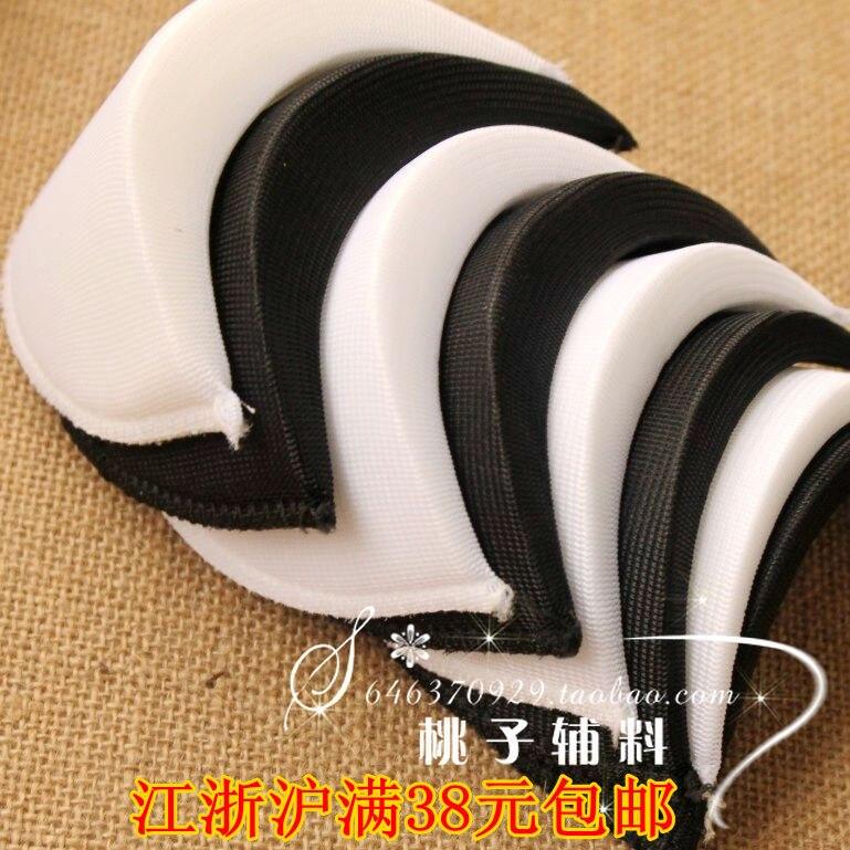 Coussinets de cryptage en tissu   4 paires de 14.5x9cm épais 1.8cm accessoires pour vêtements chemise noir et blanc, tampons déponge