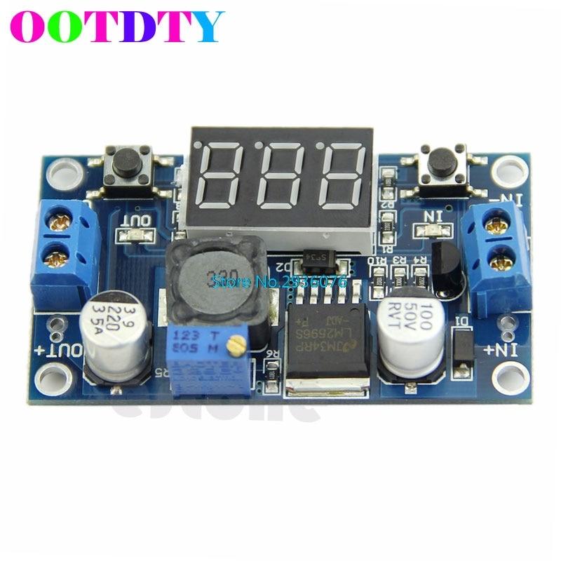 2020 novo dc lm2596 4.0 40 40 a 1.3-37v led voltímetro buck step-down módulo conversor de energia
