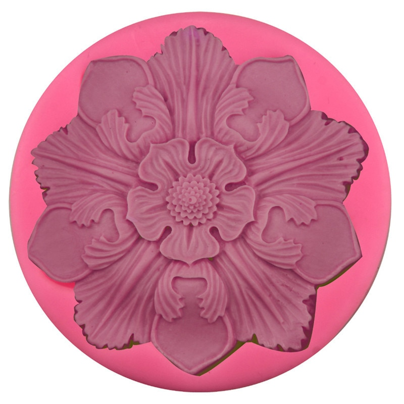 7.3cm mandala flor silicone molde designer diy argila artesanato moldes de concreto para gesso 3d painel parede gips mallen argila molde