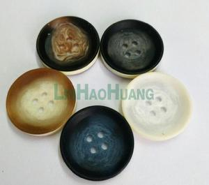 Wholesale Free shipping 50 pieces 30.5mm big plastic resin sewing buttons 2-hole five colors coat buttons 2017040301