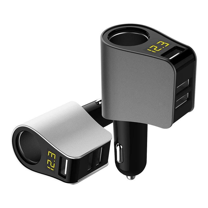 USB cargador de coche extensión de encendedor de cigarrillos conector de alimentación LED de detección de voltaje para SUBARU Forester 2014 2016 2009 Outback