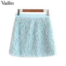 Vadim frauen büro tragen grundlegende mini rock faldas mujer seite zipper stretchy weibliche casual sommer chic röcke BA722