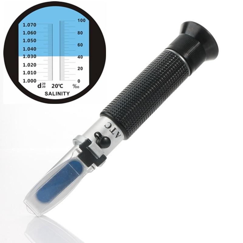 Портативный рефрактометр для аквариума, морской рефрактометр, 0-10% удельный вес 1,000-1,070