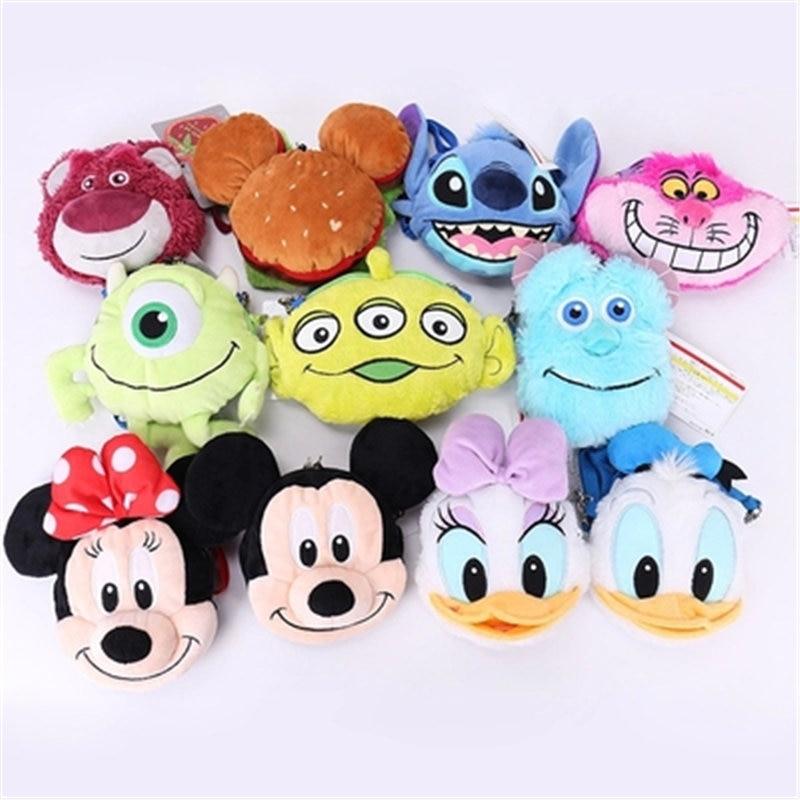 Bolso de peluche con dibujo de Mickey mouse de Disney, Pato Donald, para mujer, cartera, tarjetero, monedero, bandolera, para mujer