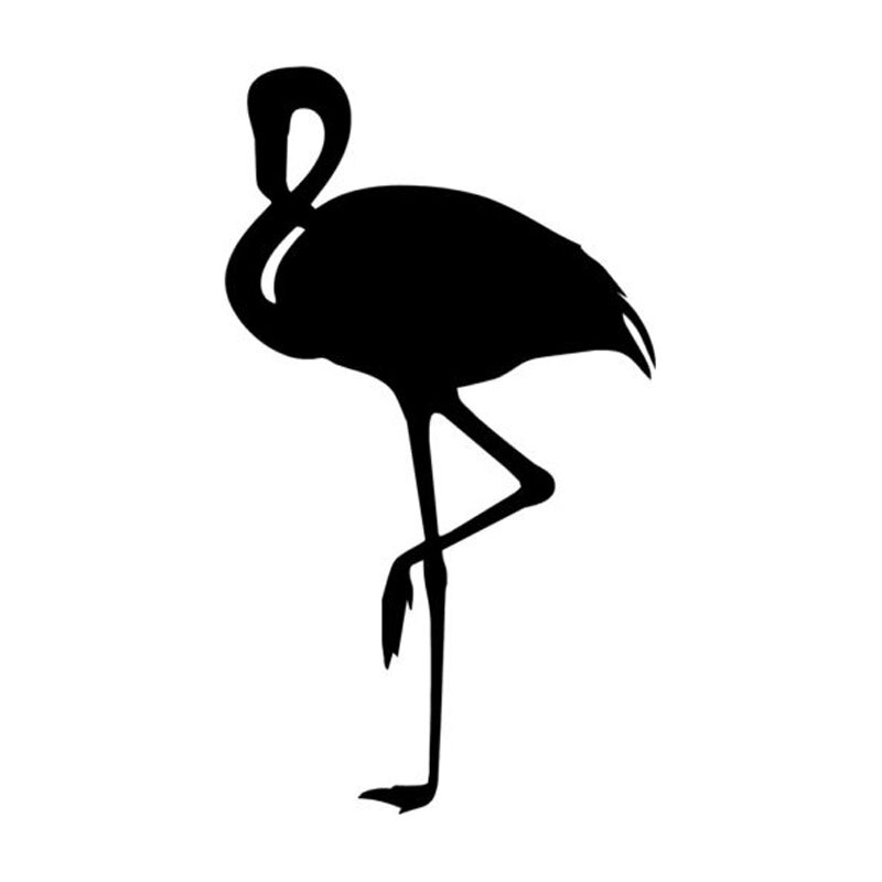 9.6*16.5CM Lovely Flamingo Funny Vinyl Car Sticker Stylish Car Styling Decal Accessories Black/Silve