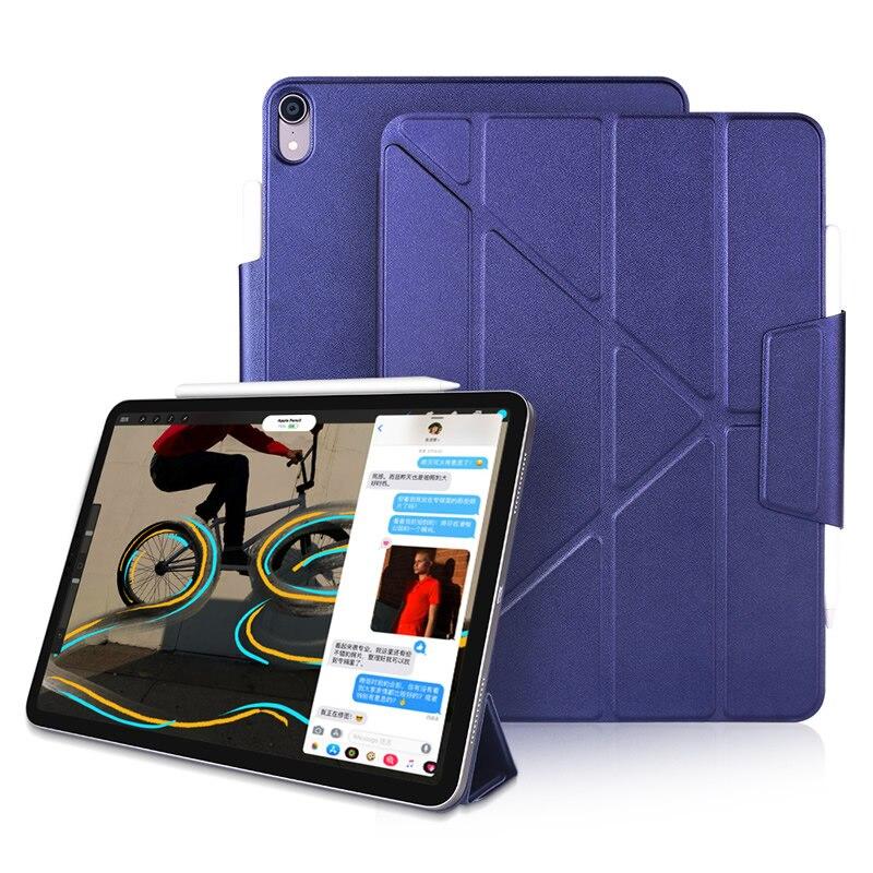 Funda tri-fold para Apple iPad Pro 12,9 pulgadas 2018, funda inteligente Auto Wake/Sleep, Pencil2 apertura lateral magnética