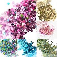 12 cores holo glitter festival 50g/unicórnio festival rosto chunky glitter festa compõem cosméticos brilhantes corpo carnaval decora