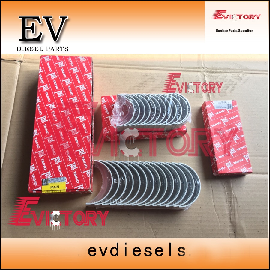Para Isuzu 6HH1 6HH1T virabrequim do motor do rolamento + connetcing rod con rod bearing made in Japan