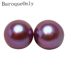 Aaaaa 에디슨 자연 진주 라운드 구슬 diy 드롭 귀걸이 쥬얼리에 대 한 고품질 담 수 보라색 핑크 황금 진주 7-8m