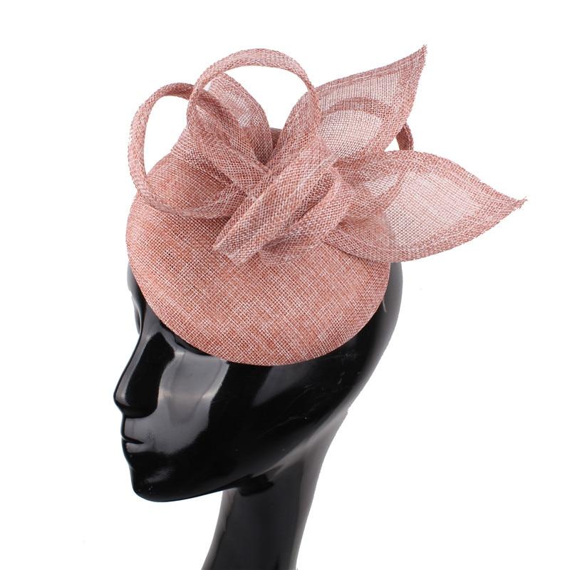 Elegant Women Hair Accessories Sinamay Fascinator Hair Clip Formal Dress Fasion Event Hat For Wedding Church Cocktail Headpiece