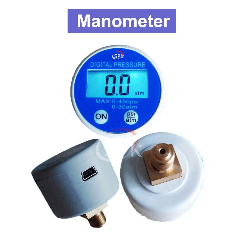Manómetro G1/8 40mm 5V alimentado por batería 450psi RS232 USB