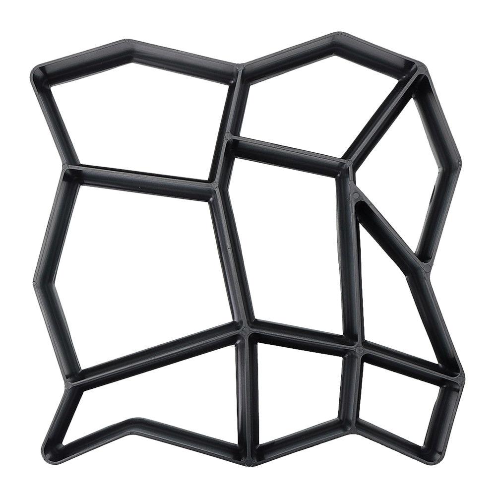 DIY molde de plástico para construir pavimentos, edificios de jardín, pavimento de ladrillos de cemento, piso de piedra, camino de hormigón, moldes de pavimento