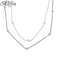 Perles de cristal BAFFIN 2018 Collier multicouche longue chaîne Maxi Collier bijoux pour femmes cadeau de fête fait avec Swarovski