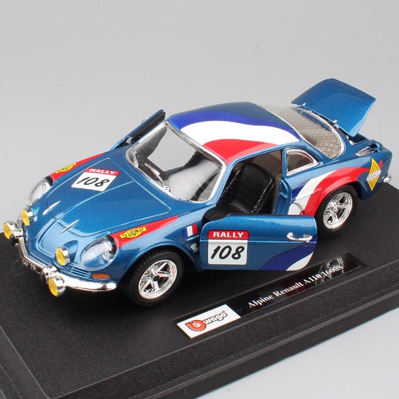 124 échelle RENAULT Alpine A110 1600 S voiture de course de rallye no 108 moulé sous pression wrc modèles et véhicules voitures auto répliques de jouets pour enfants