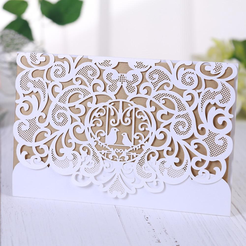 Adorable decoración de pájaro Eleva, tarjetas de mesa de boda huecas, tarjeta elegante de invitación de boda mr mrs, Tarjeta De Nombre dibujos animados de boda